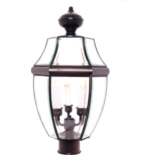 Reviews Lavergne Creek Traditional Outdoor 3-Light Lantern Head By Three Posts