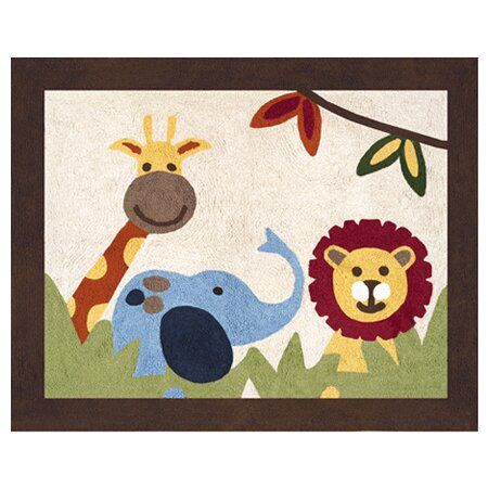 Jungle Time Machine woven Cotton Area Rug by Sweet Jojo Designs
