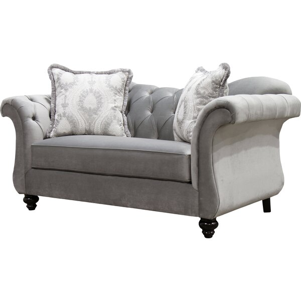 Indira Chesterfield 75-inch Rolled Arms Loveseat By Willa Arlo Interiors