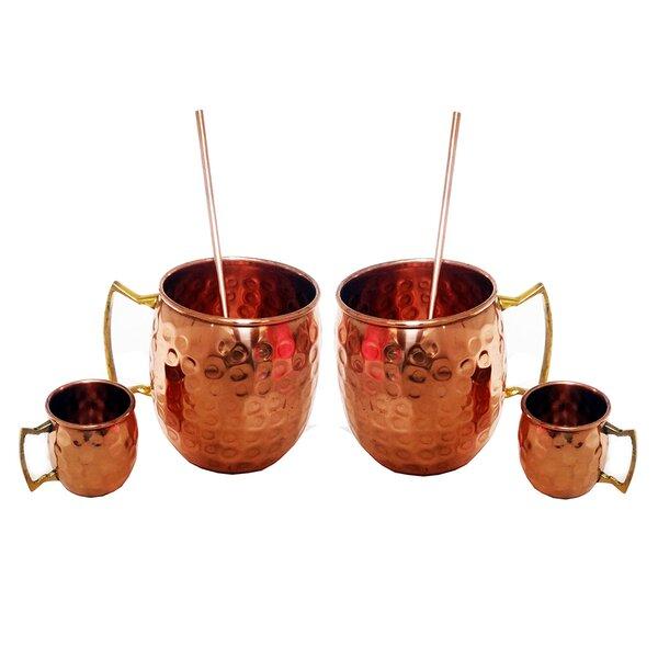 Heile 6 Piece Copper Assorted Glassware Set by Ebern Designs
