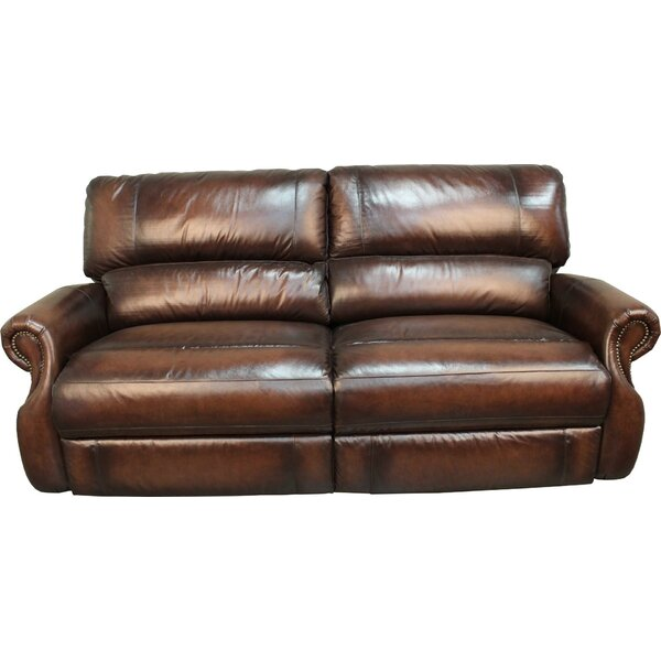 Hardcastle Leather Reclining Sofa by Darby Home Co