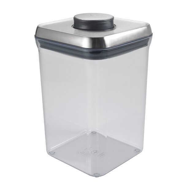 Steel Big Square Pop 128 Oz. Food Storage Container By Oxo.