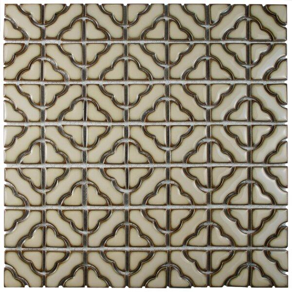 Jericho Porcelain Mosaic Tile in Beige by EliteTile