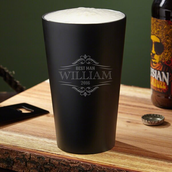 Wilshire Insulated Custom 16 oz. Stainless Steel Pint Glass by Home Wet Bar