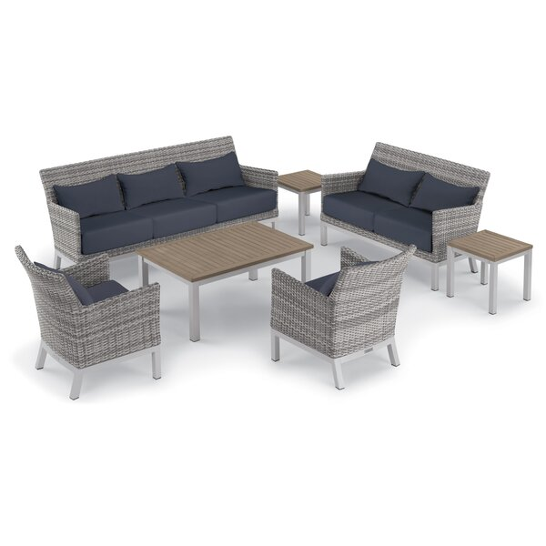 Saint-Pierre 7 Piece Lounge Rattan Sofa Seating Group with Cushions by Brayden Studio