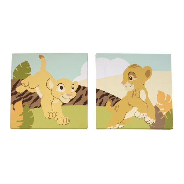 2 Piece Lion King Canvas Art Set by Disney