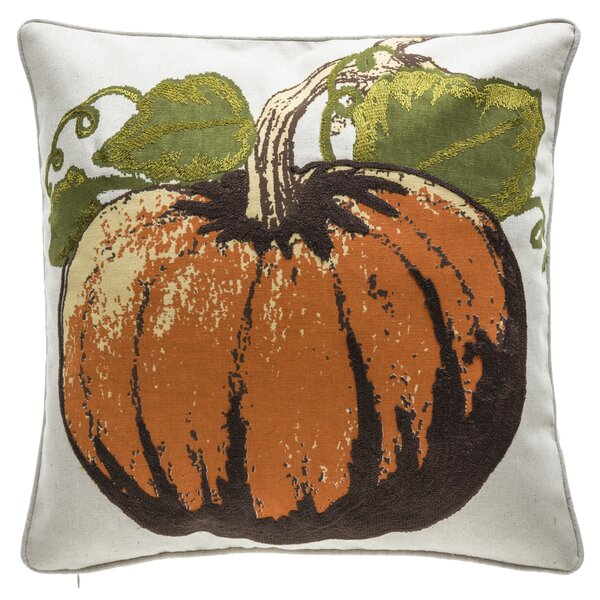 Fall Pumpkin Throw Pillow by 14 Karat Home Inc.