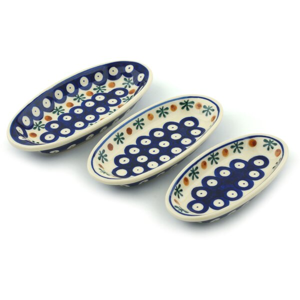 Mosquito 3 Piece Nesting Condiment Platter Set by Polmedia