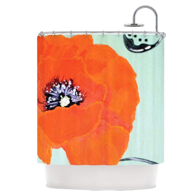Vintage Poppy Shower Curtain