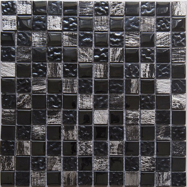 Astro Knight 1 x 1 Glass Mosaic Tile in Dark by Matrix Stone USA