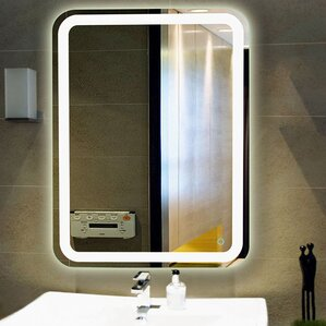 Lighted Bathroom Wall Mirror mirrors with lights you'll love | wayfair