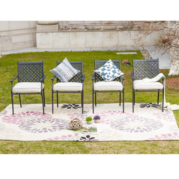 Oleary Patio Dining Chair With Cushion By Alcott Hill