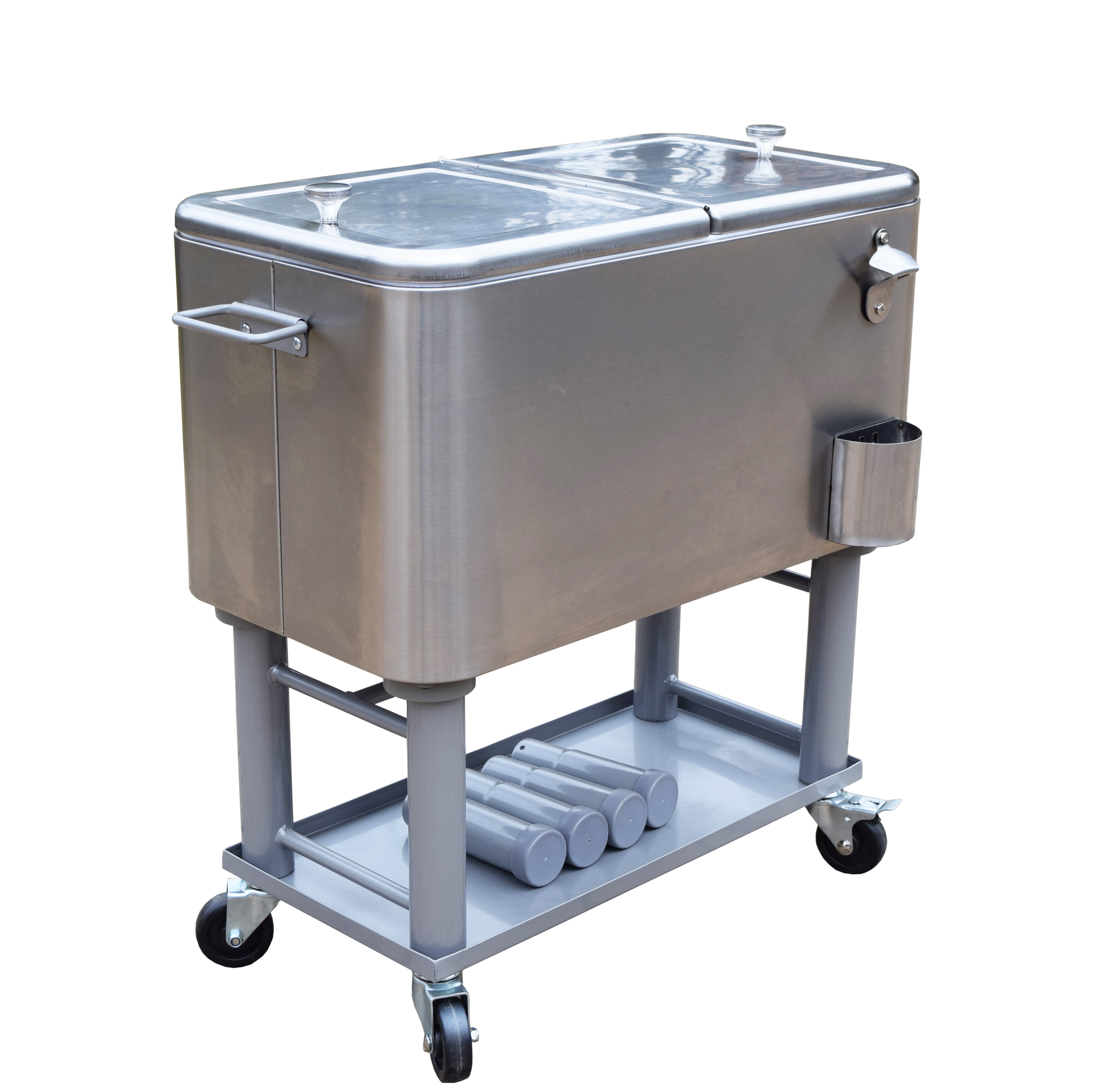 60 Qt Stainless Steel Party Cooler