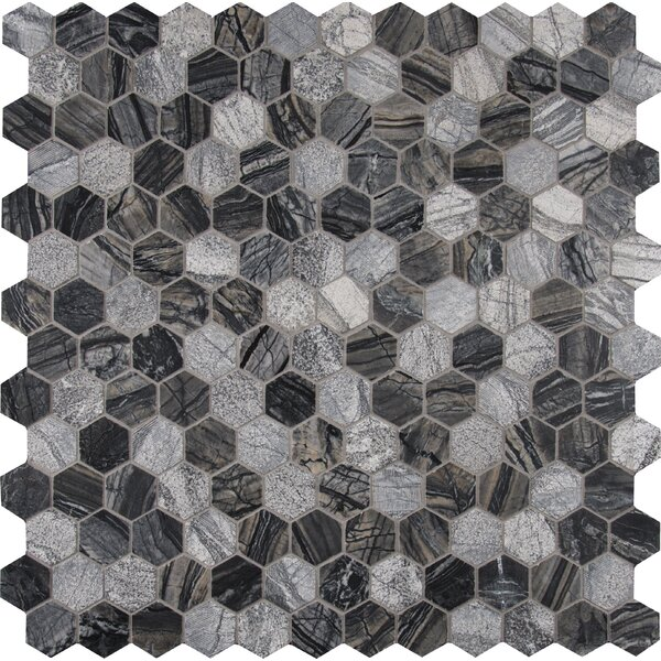 Henley 2 x 2 Marble Mosaic Tile in Black by MSI