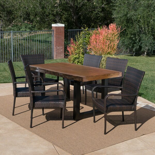 Staten Outdoor 7 Piece Dining Set by Millwood Pines