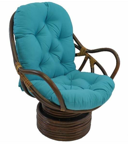 Jimena Swivel Papasan Chair by Beachcrest Home