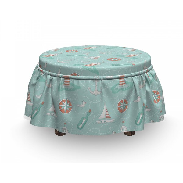 Dashed Trace Font Ottoman Slipcover (Set Of 2) By East Urban Home