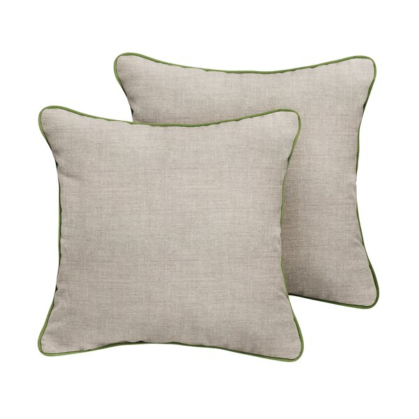 Boothbay Sunbrella Cast Outdoor Throw Pillow (Set of 2) by Rosecliff Heights