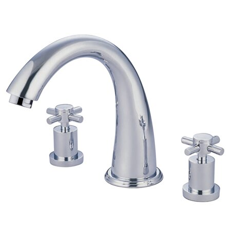 South Beach Double Cross Handle Roman Tub Filler by Elements of Design