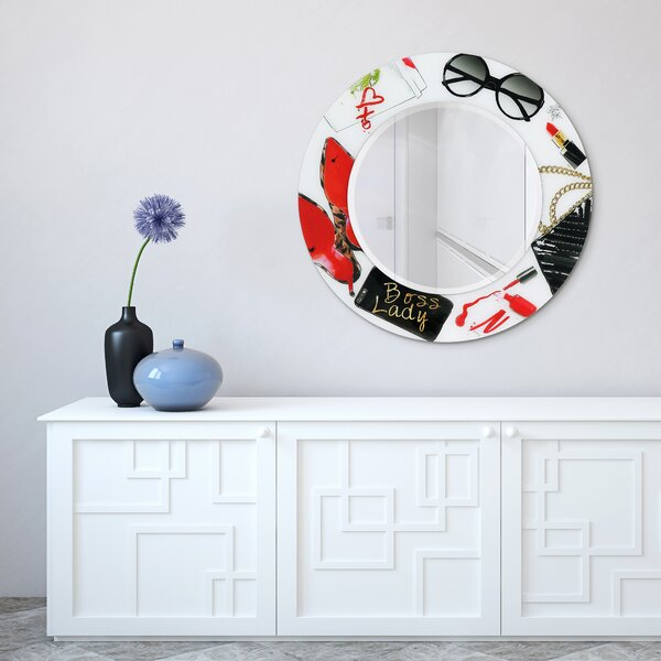 Centralia Boss Lady Glam Beveled Wall Mirror
