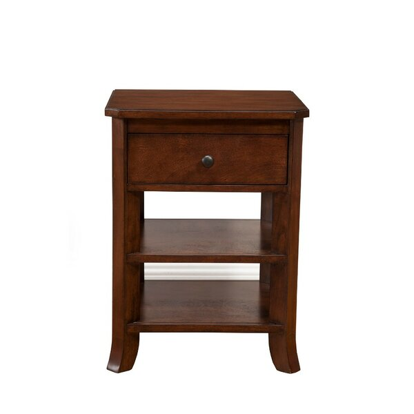 Lapine Chicly Trimmed 1 Drawer Nightstand by Alcott Hill