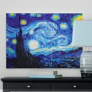 'Starry Night' by Vincent Van Gogh Oil Painting Print on Wrapped Canvas by Red Barrel Studio