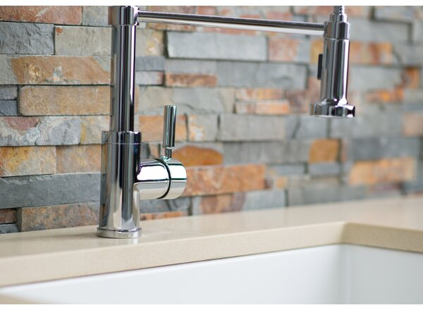 Pull Down Single Handle Kitchen Faucet by Hahn