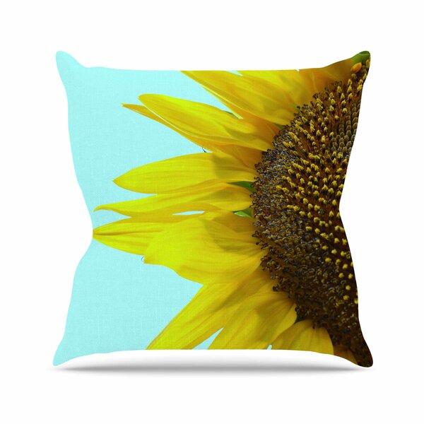 Richard Casillas Sunflower Mint Outdoor Throw Pillow by East Urban Home