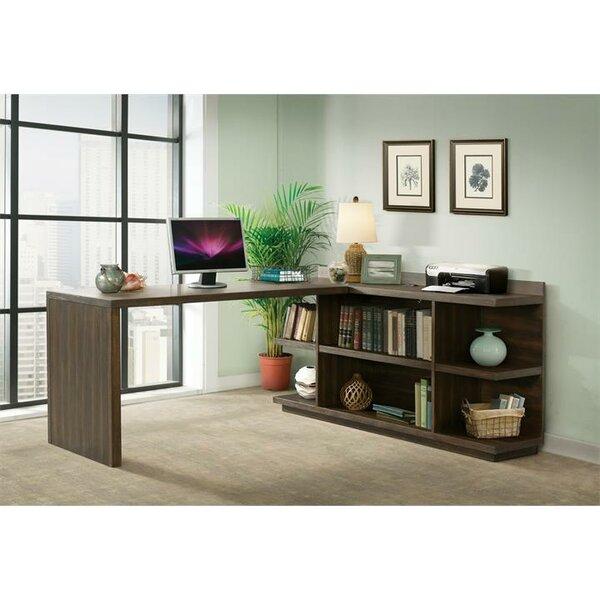 Arbyrd Return Desk with Bookcase by Greyleigh