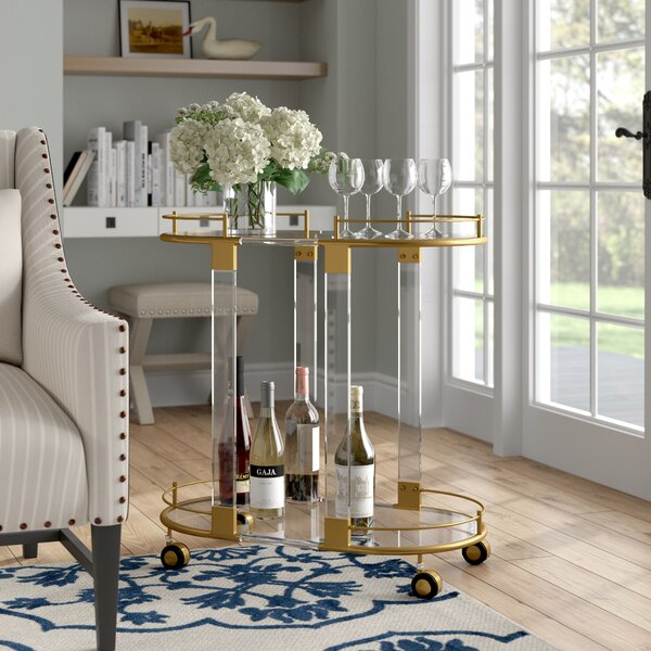 Belkis Bar Cart by Willa Arlo Interiors Willa Arlo Interiors
