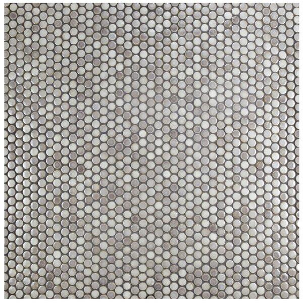 "Penny 0.8"" X 0.8"" Porcelain Mosaic Tile by Allmodern"