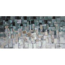 Gray/Blue Segments Wall Décor