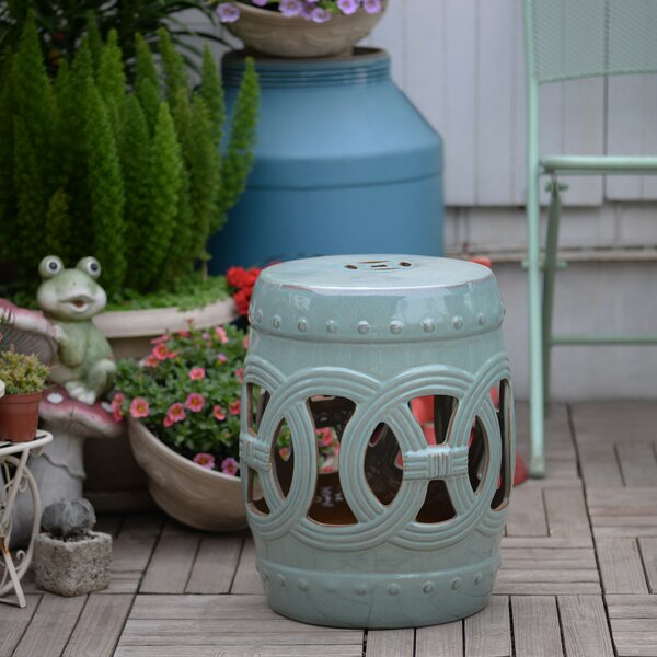 Abbeydale Ceramic Side Table by Charlton Home
