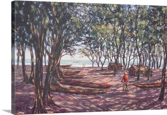 Boat Yard, Kafountine, 1998 by Tilly Willis Painting Print on Canvas by Canvas On Demand
