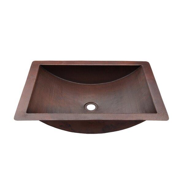 Merida Metal Rectangular Dual Mount Bathroom Sink by Novatto