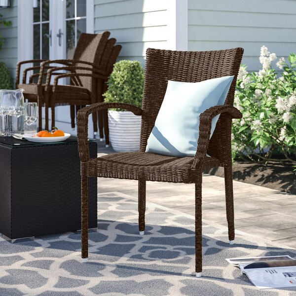 Brighton Stacking Patio Dining Chair (Set of 4) by Sol 72 Outdoor