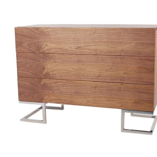 Domingo 3 Drawer Standard Dresser/Chest by Wade Logan