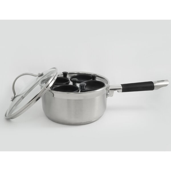 Professional 4 Cup Stainless Egg Poacher by Cook Pro