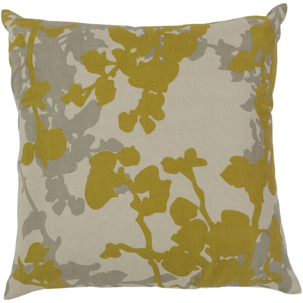 Jef Designs Floral Cotton Throw Pillow by Jef Designs