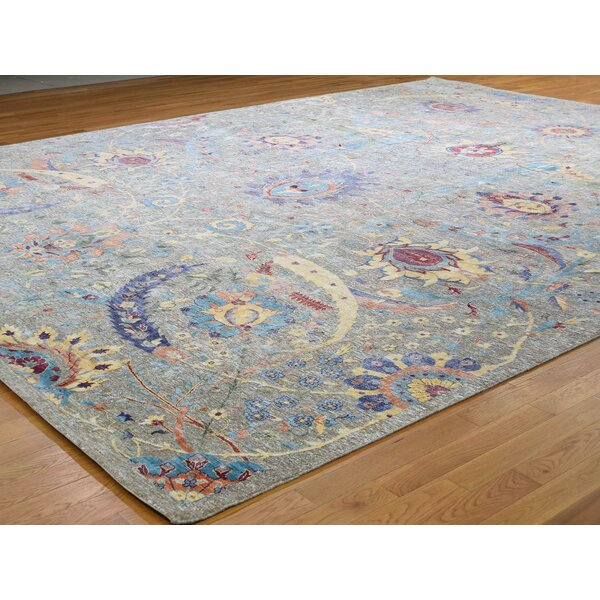 One-of-a-Kind Fondren Hand-Knotted Gray 12'1 x 15'3 Area Rug