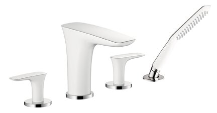 Puravida Two Handle Deck Mount Roman Tub Faucet with Hand Shower by Hansgrohe