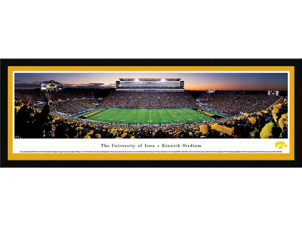 NCAA Iowa, The University of - Football by Robert Pettit Framed Photographic Print by Blakeway Worldwide Panoramas, Inc