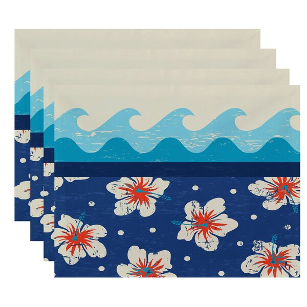 Pembrook Floral Placemat (Set of 4) by Bay Isle Home