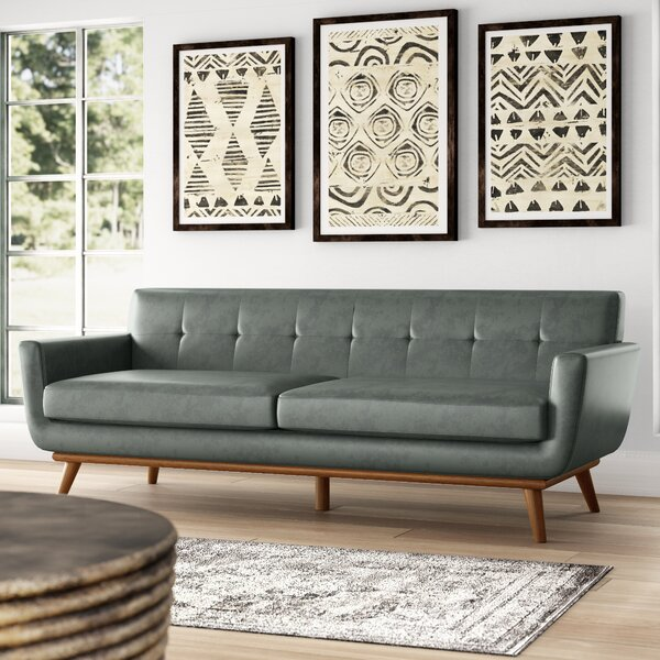 Haskin Leather Sofa by George Oliver