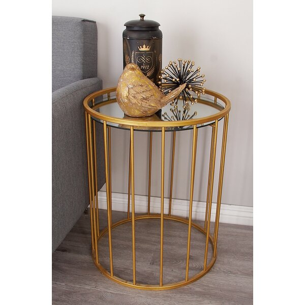 Metal and Mirror 3 Piece End Tables by Cole & Grey