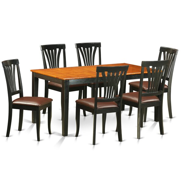 Cleobury 7 Piece Dining Set with Rectangular Table Top by August Grove
