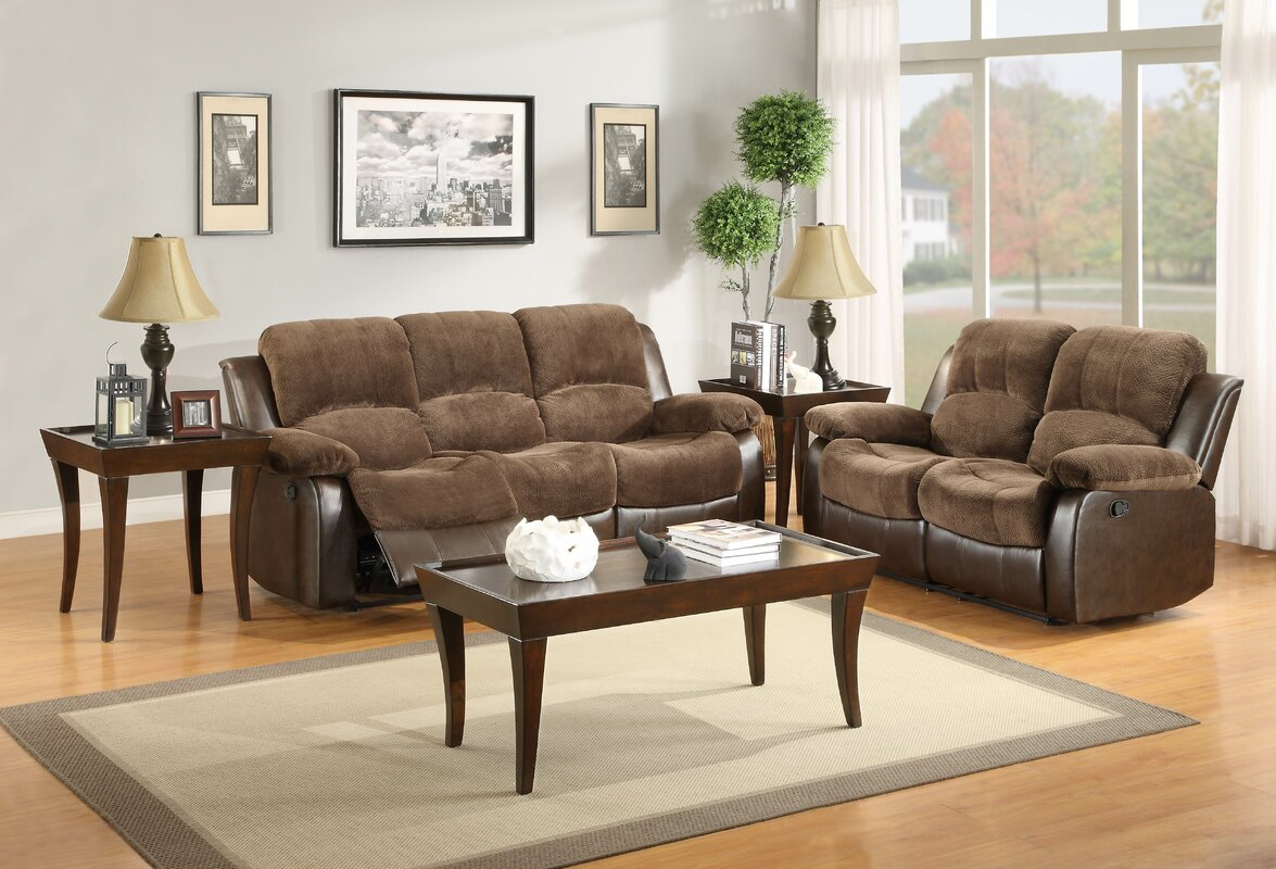 Wagnon Configurable Genuine Leather Living Room Set