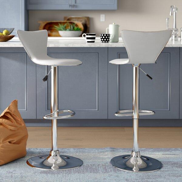 Honea Adjustable Height Swivel Bar Stool (Set of 2) by Brayden Studio