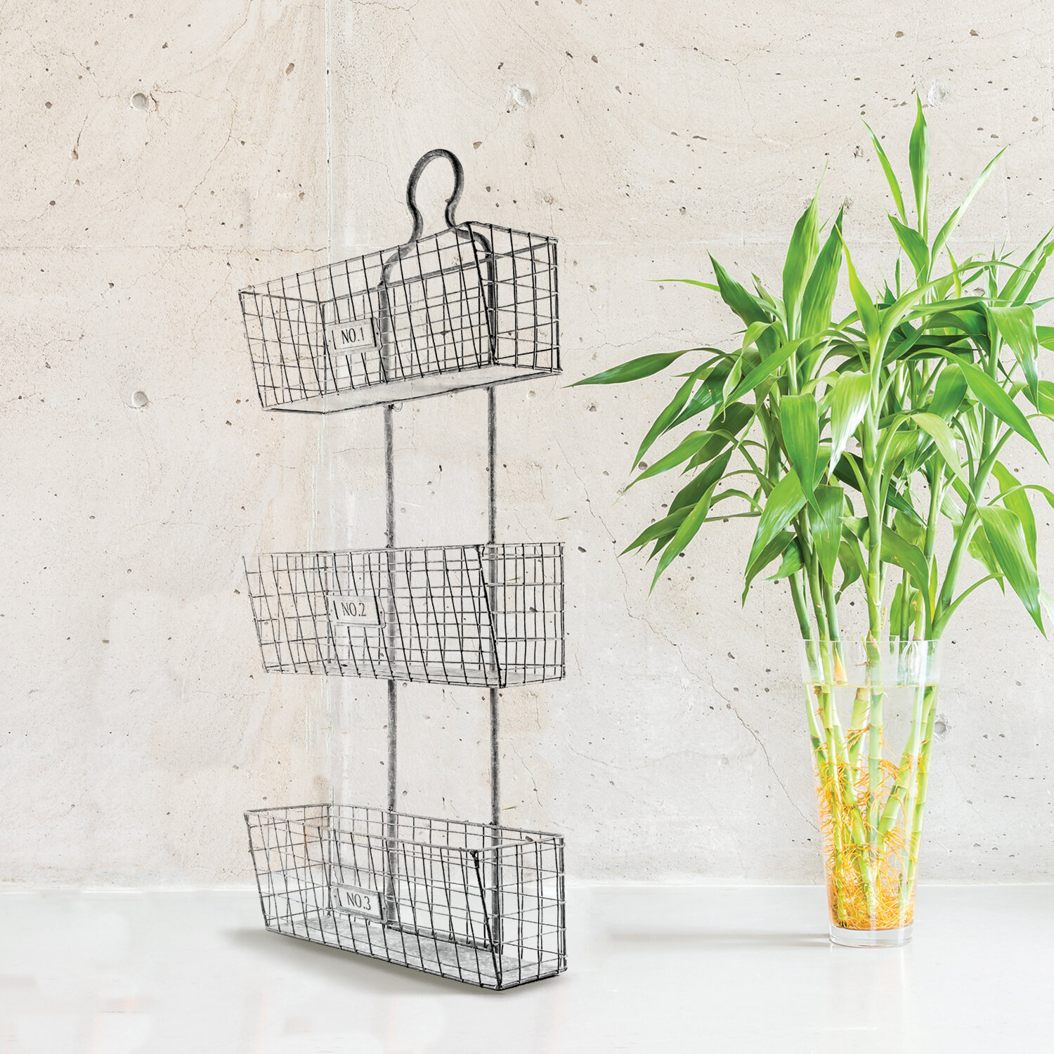 Three Tier Wall Hanging Metal