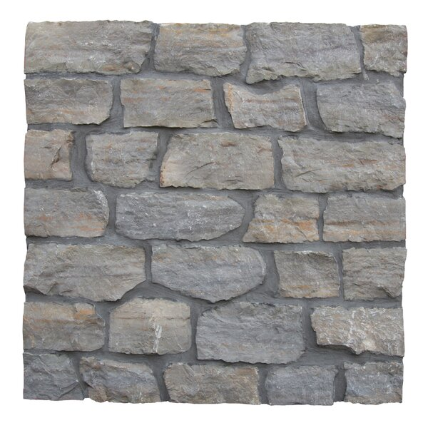 Laguna Loose Veneer Limestone Splitface Tile in Gray by MSI